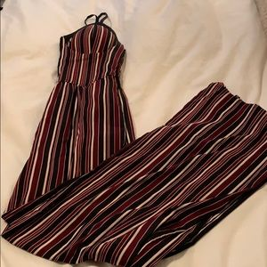 Striped Jumpsuit - Size Small